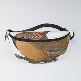 Owl on branch Fanny Pack