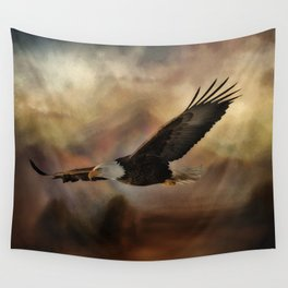 Eagle Flying Free Wall Tapestry