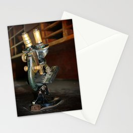 Old Microscope Stationery Cards