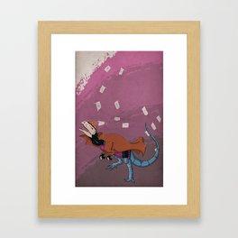 Gambilophosaurus - Superhero Dinosaurs Series Framed Art Print