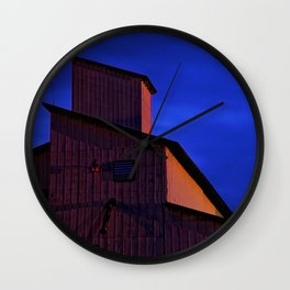 Building forms at midnight Wall Clock