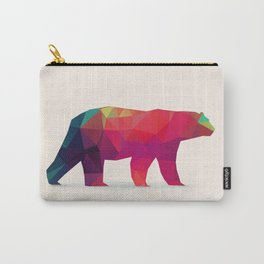 Geometric Bear - Modern Animal Art Carry-All Pouch