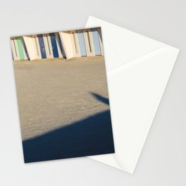 beach cabins Touquet Stationery Cards