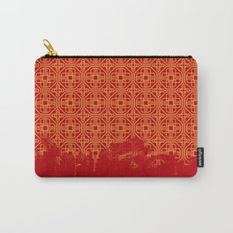 Dripping Octagons Carry-All Pouch