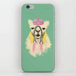 Llama drama queen iPhone Skin