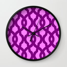 Grille No. 2 -- Violet Wall Clock