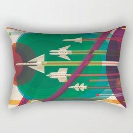 NASA Retro Space Travel Poster The Grand Tour Rectangular Pillow