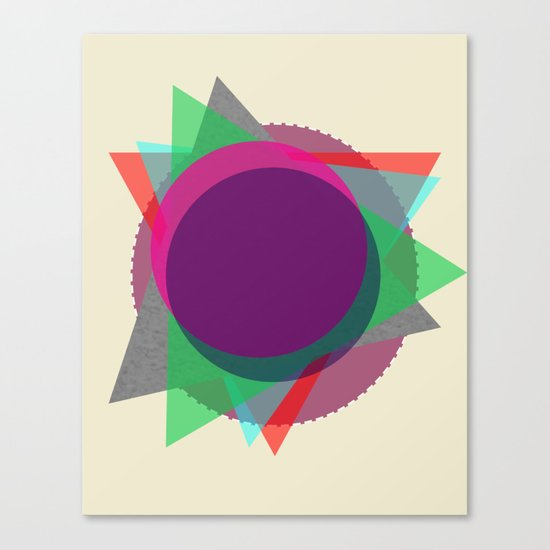 Random Circle's and Triangle's Canvas Print