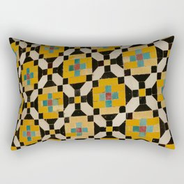 Cheerful Yellow Tiles & Patterns artwork | Golestan Palace Rectangular Pillow