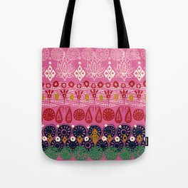 lotus block pink Tote Bag
