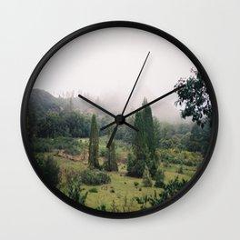 (fog meadow) Wall Clock