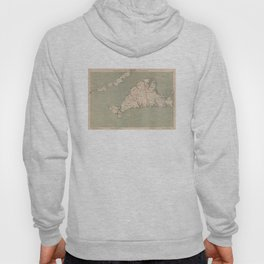 Vintage Map of Martha's Vineyard (1891) Hoody