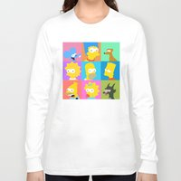 simpsons Long Sleeve T-shirts featuring Simpsons by thev clothing