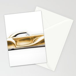 Vintage 1934 gold Packard Eight 2/4-Passenger Coupe Stationery Cards