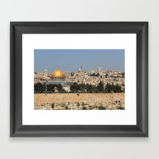 jerusalem and the dome of the rock Framed Art Print