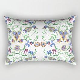 Watercolor damask seamless pattern. Rectangular Pillow