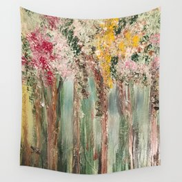 Woods in Spring Wall Tapestry