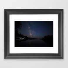 Milky Way over the Lake Framed Art Print