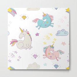 Magical Unicorn Gems - Be a Unicorn Metal Print
