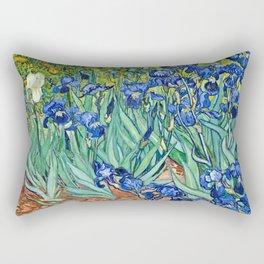 Vincent Van Gogh - Irises Rectangular Pillow