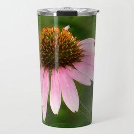 Pink Coneflower Travel Mug