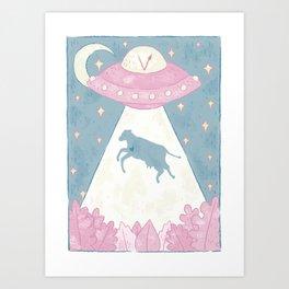 aliens are vegan Art Print