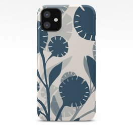 Wildflowers Large - Blue iPhone Case