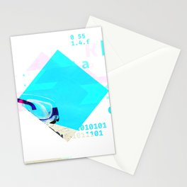 GLITCH NATURE #97: Pool Goggles Stationery Cards