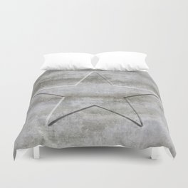 Solid Star in grey conrete Duvet Cover