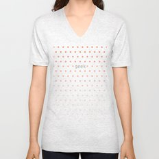 I'm a geek and I love polka dots Unisex V-Neck