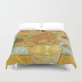 STILL LIFE: VASE WITH TWELVE SUNFLOWERS - VAN GOGH Duvet Cover