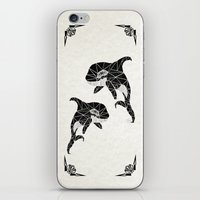 orca iPhone & iPod Skins featuring orca by Manoou