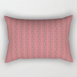 Mauve Deep Rose Stitch Rectangular Pillow