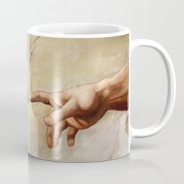 "Michelangelo ""Creation of Adam""(detail) Coffee Mug"