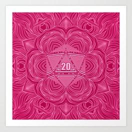Natural 20 Mandala Seduced by a Bard Art Print