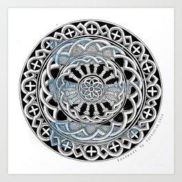 Cathedral mandala Art Print