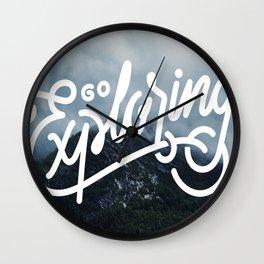 Go Exploring Wall Clock