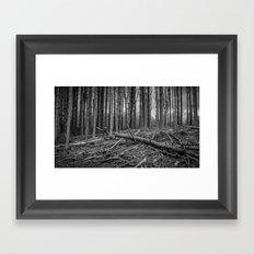 Logging Framed Art Print