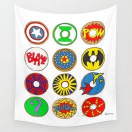 Superhero Donuts Wall Tapestry