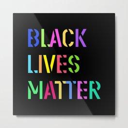 Black Lives Matter Colorful Stencil 1 Metal Print