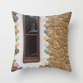 Candied Window Throw Pillow
