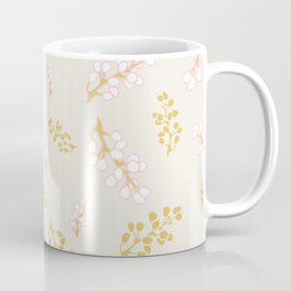 Garden Swirl Collection - Pink & Yellow Bouquet Bits Coffee Mug