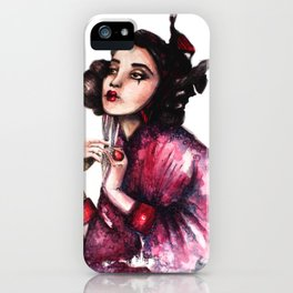 Geisha Girl // Fashion Illustration iPhone Case
