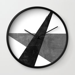Ambitious No. 2 | Abstract in Blacks + Grays Wall Clock