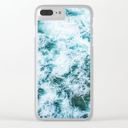 The Waves (Color) Clear iPhone Case