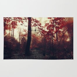 Scarlet Wilderness Rug