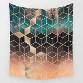 Ombre Dream Cubes Wall Tapestry