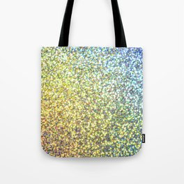 Blue & Gold Glitter Ombre Tote Bag