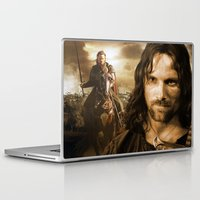 lord of the rings Laptop & iPad Skins featuring lord of the rings,the hobbit by ira gora