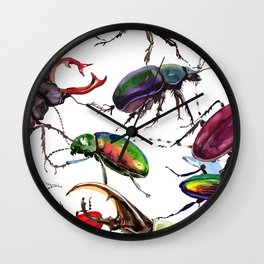 Beetles, Bugs, and Creepy Insects Wall Clock